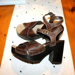 MIA Platform Leather & Wood Heels.  SOOO Cute!!
